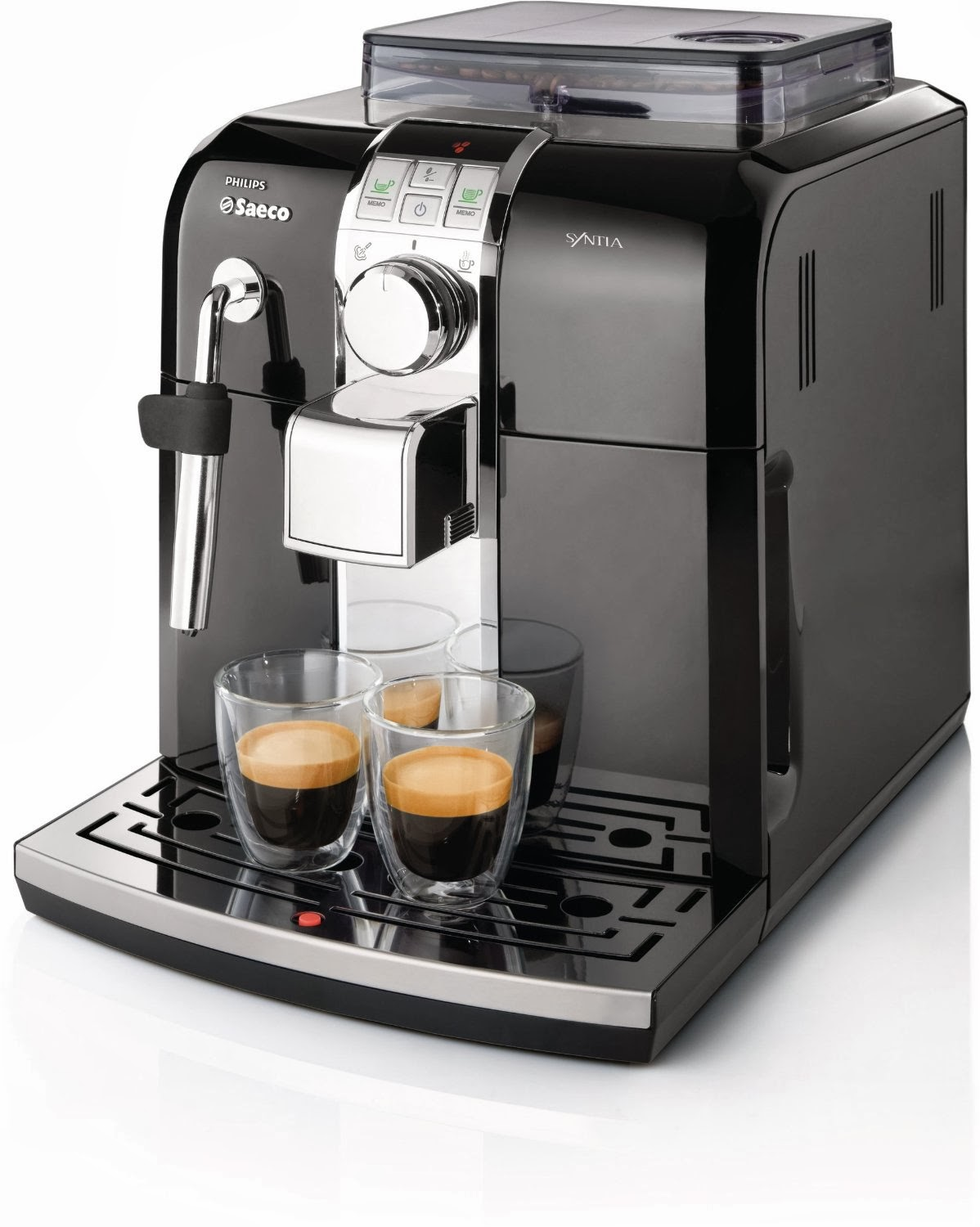 The Philip Saeco Has An Inbuilt Coffee Grinder That Grinds On Demand To Make Freshest Espresso This Machine Is Ideal For Office Workers Who