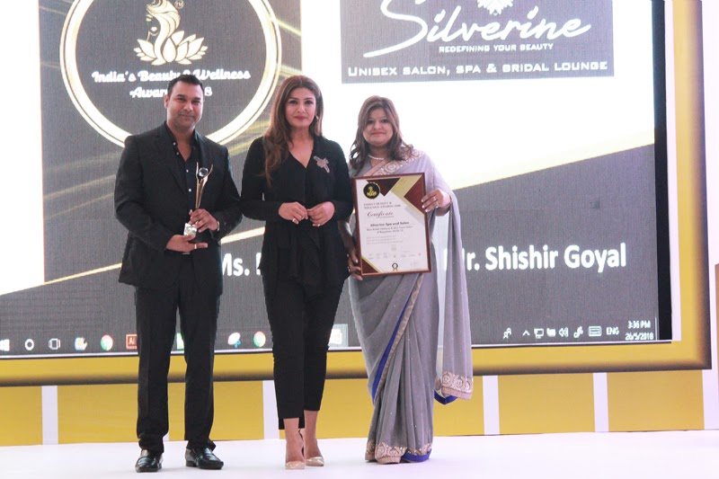 Silverine Bagged the award for Best Salon & Spa in North India.