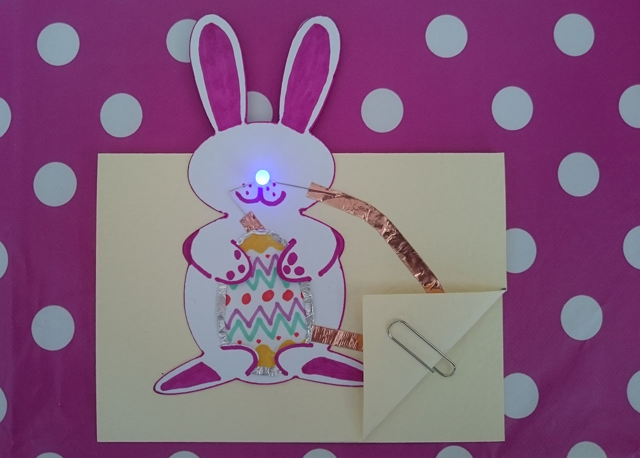 Simple Paper Circuit Easter Card With Flashing Led Egg Will Makes Things Make A Switch To The