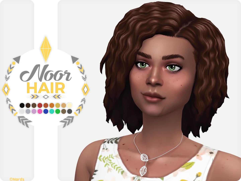 Noor Sims 4 CC Hair