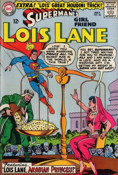 Episode #384 Part II: Superman Family Comic Book Cover Dated July 1965: Superman's Girl Friend Lois Lane #58!
