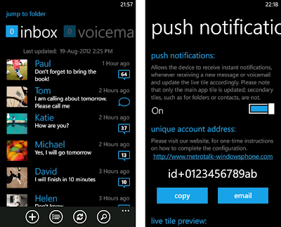 MetroTalk for the windows phone 7