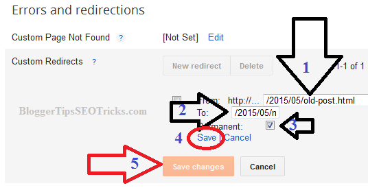 Custom Redirects Blogger Post to another URL or Domain
