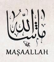 Arapça ve Türkçe Maşaallah yazıları