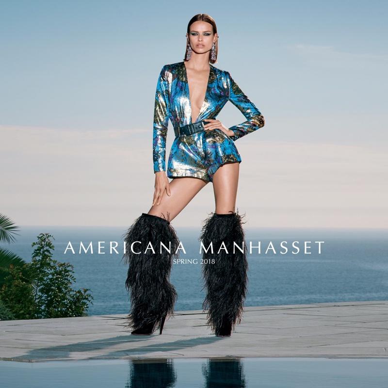Birgit Kos stars in Americana Manhasset's spring-summer 2018 campaign
