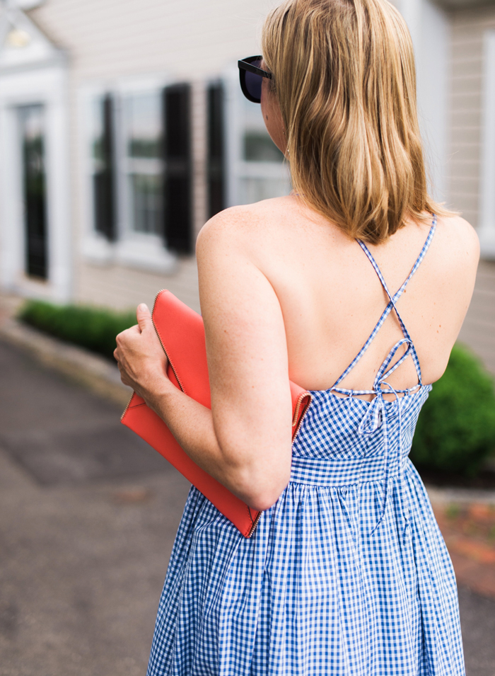 J. Crew spaghetti strap gingham dress