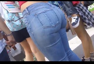 Video chava trasero grande jeans entallados