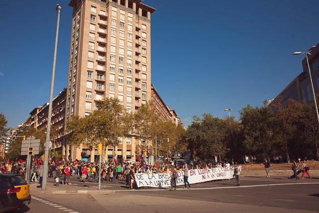 Студенческие протесты в Барселоне