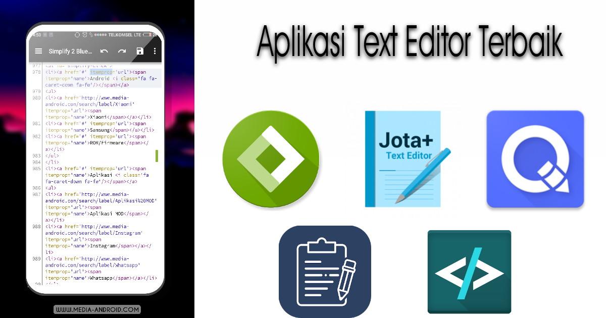Aplikasi Teks Editor Android