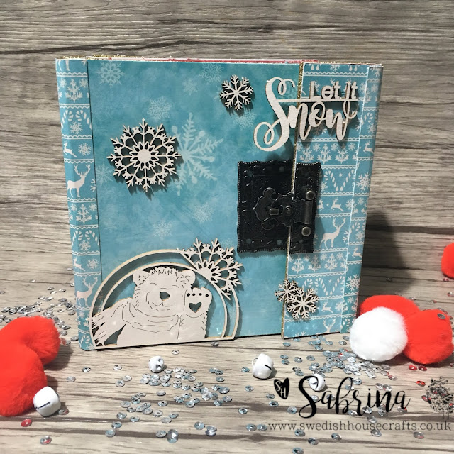 Winter Mini Album Using Laserowe Paper | By Sabrina
