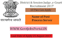 E-Courts District & Sessions Judge Recruitment 2017- Process Server