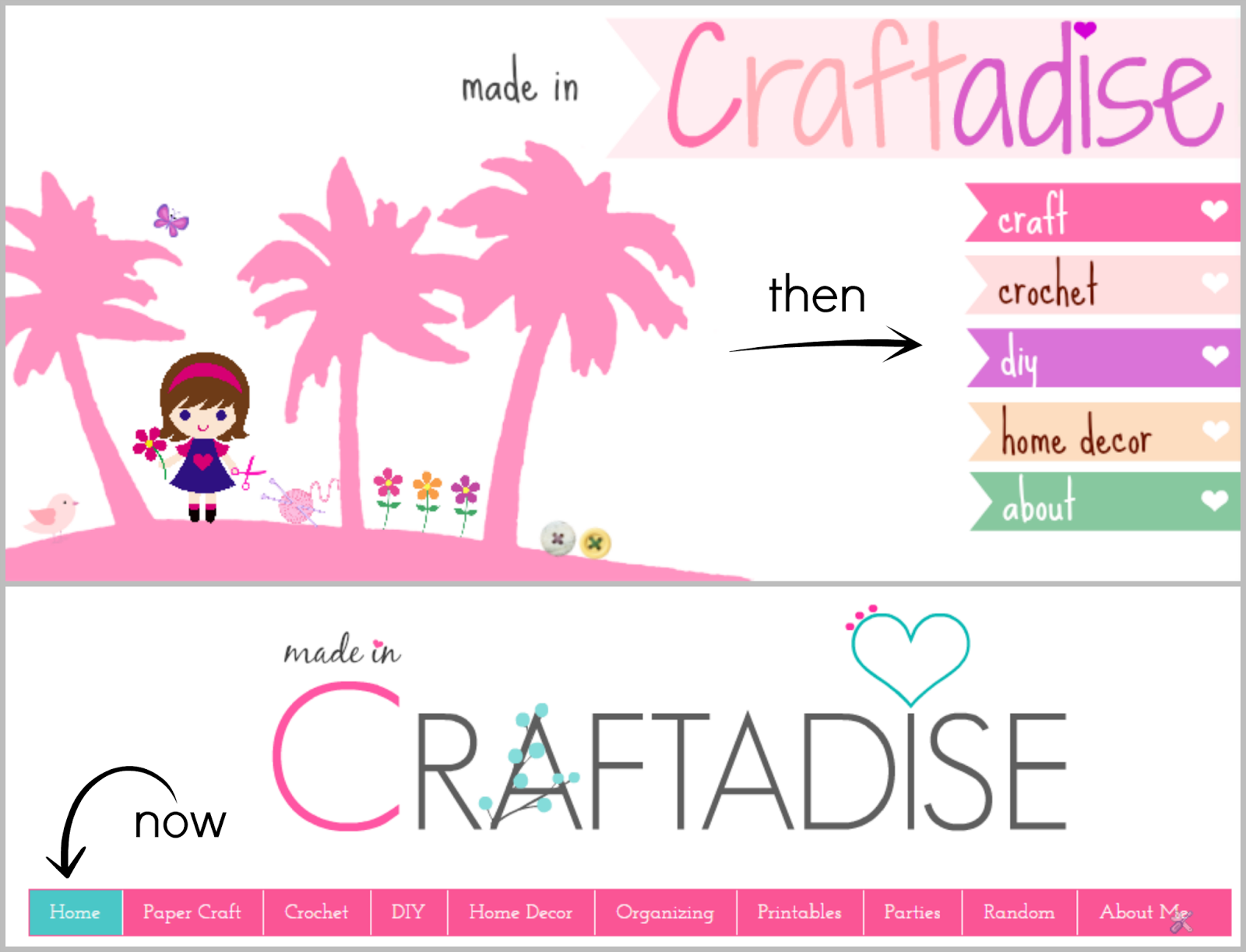 Made in craftadise, My Blogging experience so far, Blogging tips, navigation