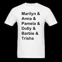 Marilyn & Anna & Pamela & Dolly & Barbie & Trisha t-shirt   PYGOD.COM