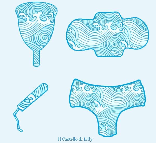Tamponi interni, assorbenti esterni e coppette mestruali