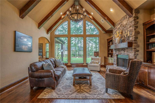 Home Styles-Craftsman-Wood Beams-Rustic Living Room- From My Front Porch To Yours