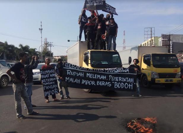 Gelar Aksi Demo, GAM Tolak Kebijakan Pemerintah Impor Beras