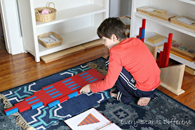 Montessori Red Rods and Number Rods