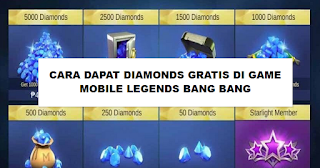 Cara Mudah Dapat Diamonds Gratis di Game Mobile Legends
