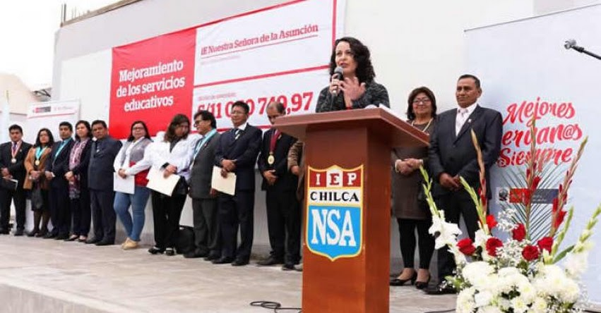 MINEDU inaugura nueva infraestructura de colegio de Chilca - www.minedu.gob.pe