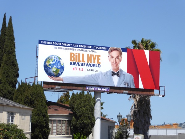 Bill Nye Saves the World series billboard