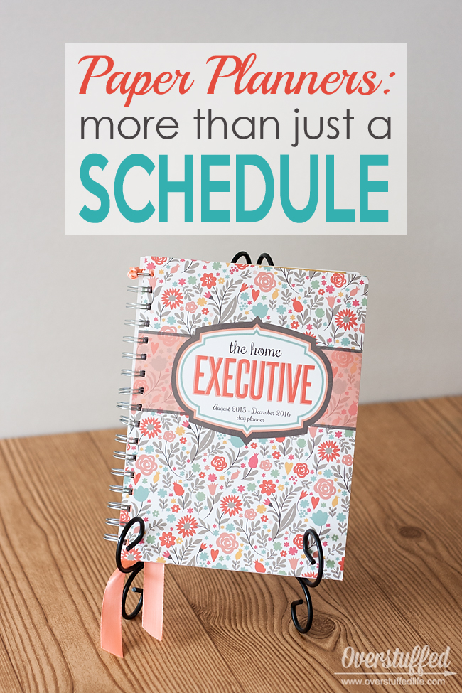 Paper planners are so much more than just a schedule on a calendar. They are a way to keep every aspect of your life in order.