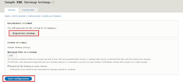 create sitemap drupal