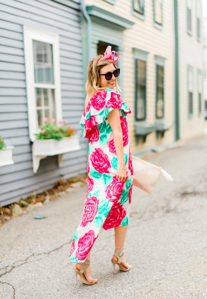Pink Floral Fascinator by Jenny Pfanenstiel
