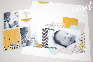 Nailed It Baby Scrapbook Pages - Susan Wong for The Crafty Carrot Co.
