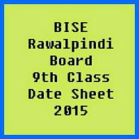 9th Class Date Sheet 2017 BISE Rawalpindi Board