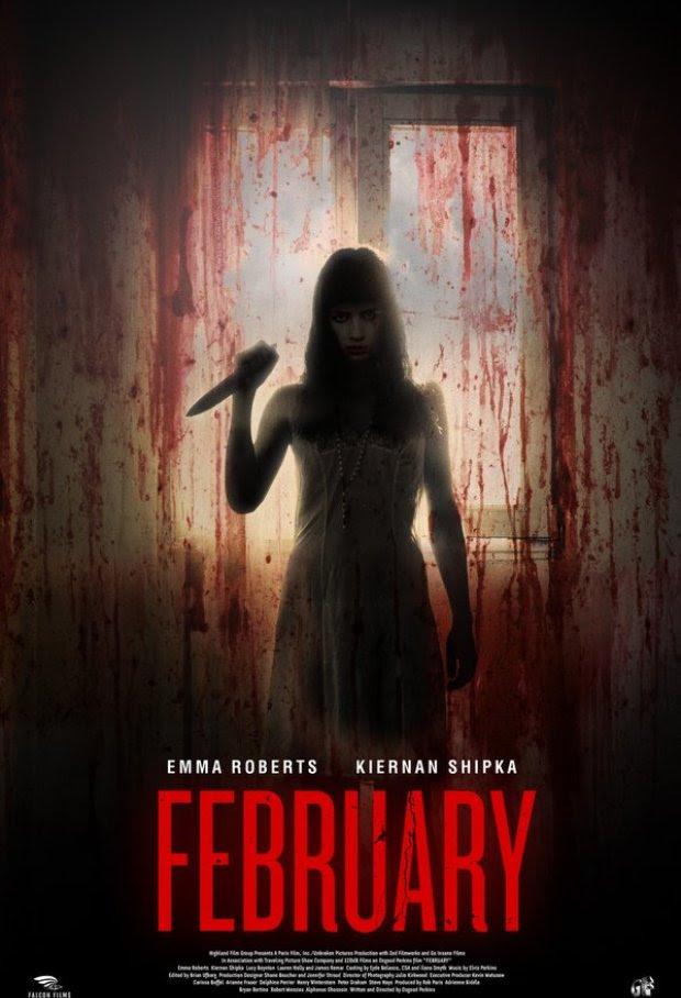 Emma Roberts aparece sanguinário no poster de February