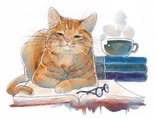 Resultado de imagem para gatos leitores