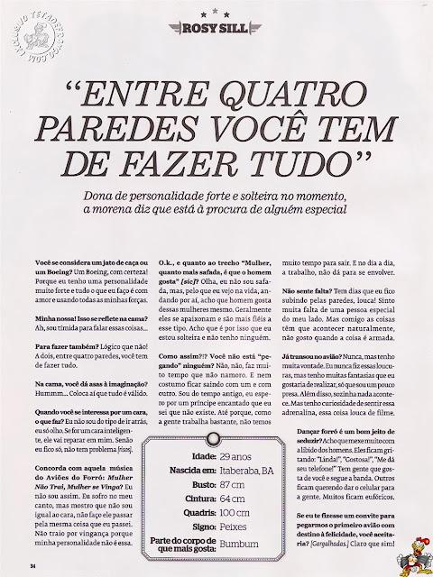 Playboy Clássicos: Dançarinas do Aviões do Forró (+18) Rosy Sill Playboy Dani Cavalcantti Daiane Lopez