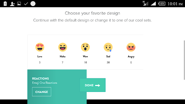 Choose your reaction button design