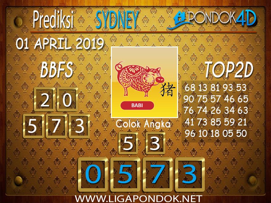Prediksi Togel SYDNEY PONDOK4D 01 APRIL 2019