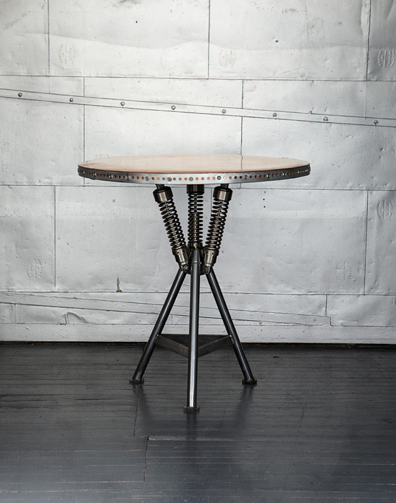 Classified Moto's extended collection of unique furniture made out of  recycled vintage bike parts. All pieces are custom made from retired  components from ...