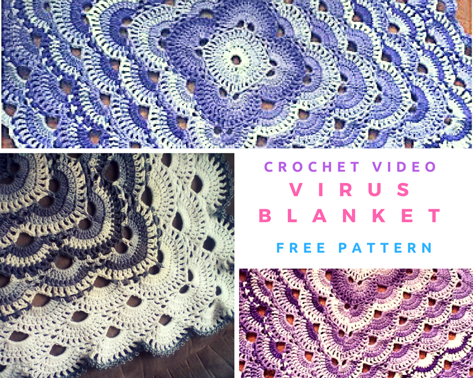 Crochet Virus Blanket Free Tutorial Crochet Designs And Free