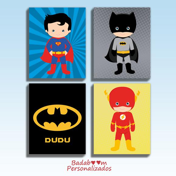 prints, quadro, quadrinhos, posteres, poster, badaboom, personalizados, heróis, cute, liga da justiça, batman, flash, superman