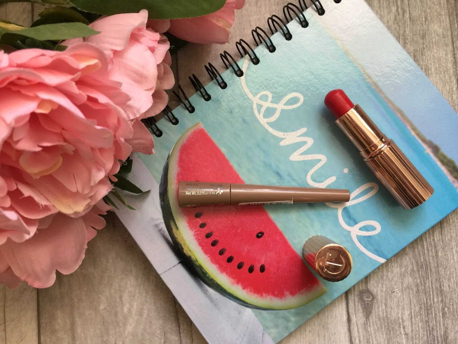 wedding face of the day charlotte tilbury lipstick and rimmel brow shaker