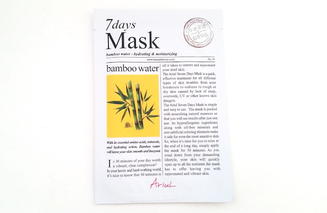 Ariul 7Days Mask - Bamboo Water