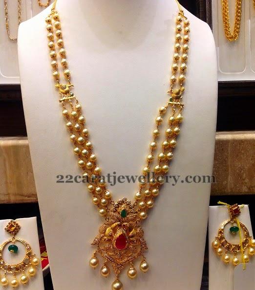 Elaborate Pearls Rani Haar Jewellery Designs
