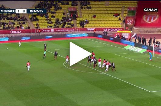 Video Monaco - Rennes: Falcao ghi bàn giúp Monaco đánh bại Rennes