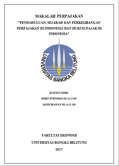 Makalah Ubb Makalah Perpajakan Pendahuluan Sejarah Dan Perkembangan Perpajakan Di Indonesia Dan Hukum Pajak Di Indonesia