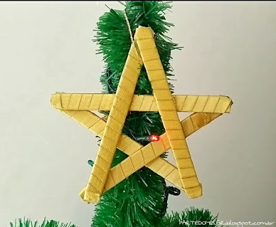 diy estrela de natal