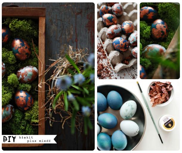 DIY – Wielkanocne jajka – w odcieniach niebieskiego i miedzi