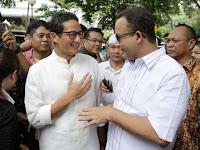 Pilgub DKI 2017: Gerinda dan PKS Usung Anies Baswedan dan Sandiaga Uno