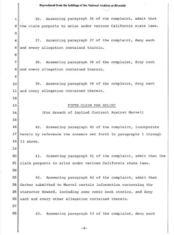 R  S  Martin: February 2, 1981 Official Defendant Response