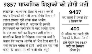 Madhyamik Shiksha Parishad, will fill 9857 LT Grade Teacher