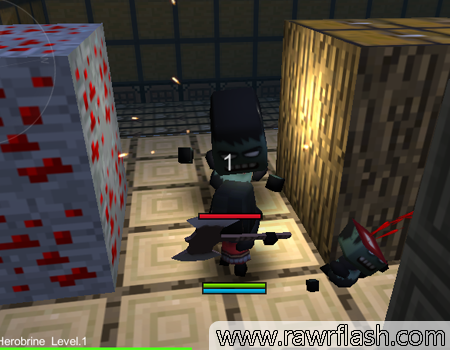 Mate zumbis no ambiente Minecraft