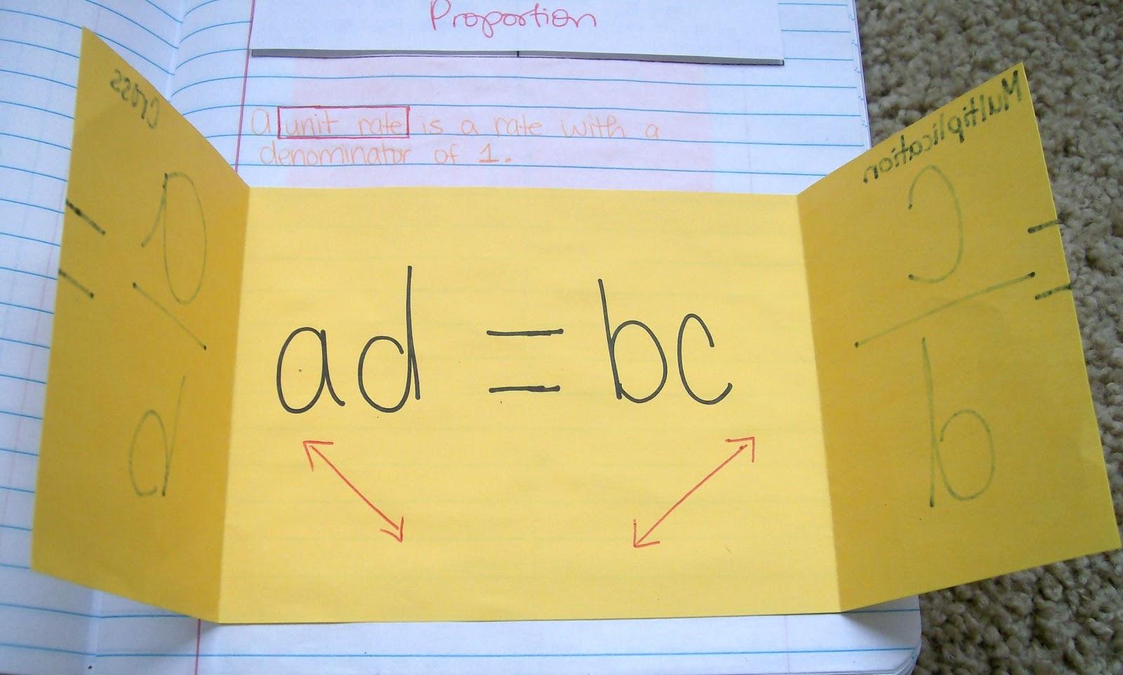 Math Love Foldable Love