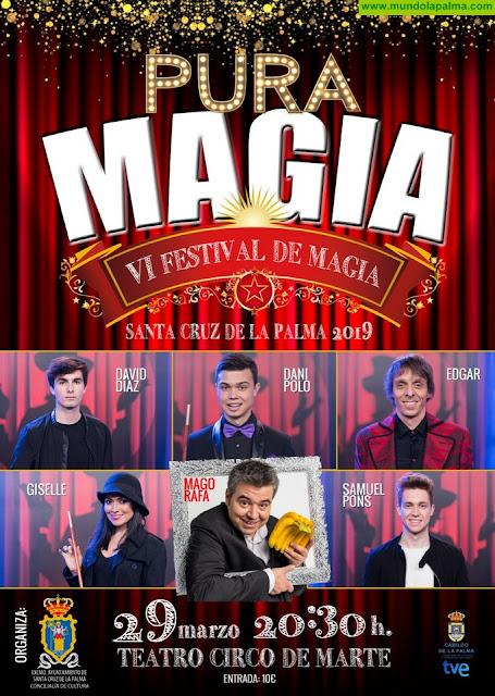 El VI Festival de Magia de Santa Cruz de La Palma reúne a los cinco finalistas del programa 'Pura Magia' de TVE